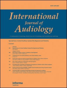 International Journal of Audiology